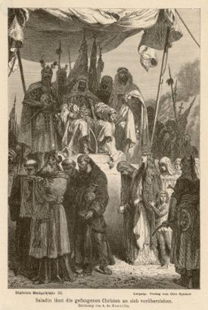 After Second Crusade Saladin by Alphonse De Neuville