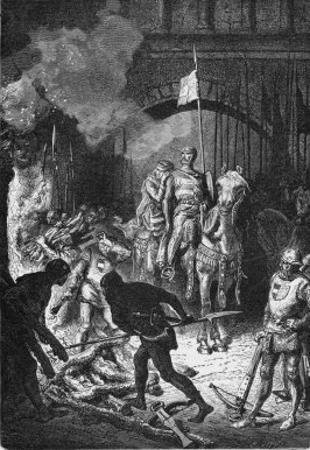 El Cid at Valencia by Alphonse De Neuville