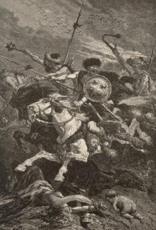 The Huns Invade Europe and Gradually Fight Their Way Westwards from About 376 Till They are Halted by Alphonse De Neuville