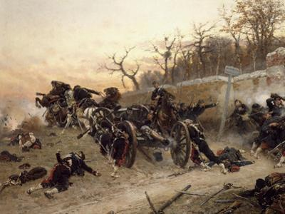 The Retreat of the French Artillery by Alphonse De Neuville