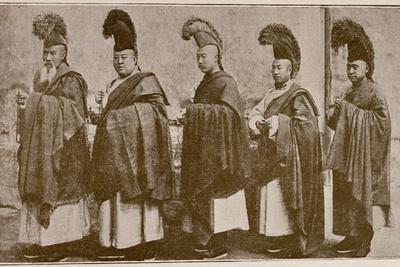 Lamas in Choral Dress, from 'Grandeur and Supremacy of Peking'