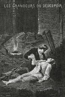 Les Grandeurs Du Desespoir - Illustration from Les Misérables, 19th Century by Alphonse Marie de Neuville