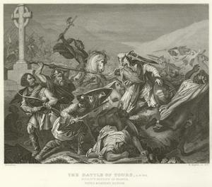 The Battle of Tours, Ad 732 by Alphonse Marie de Neuville