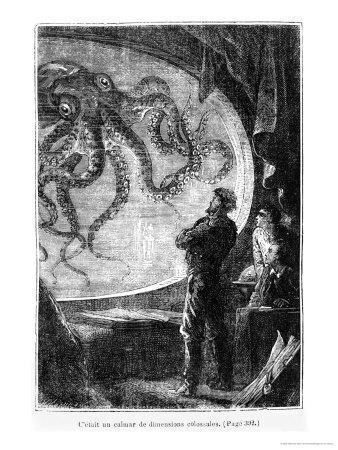 """The Nautilus Passengers, Illustration from """"20,000 Leagues under the Sea"""""""