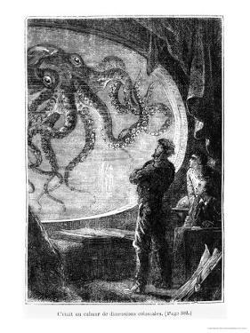 "The Nautilus Passengers, Illustration from ""20,000 Leagues under the Sea"" by Alphonse Marie de Neuville"
