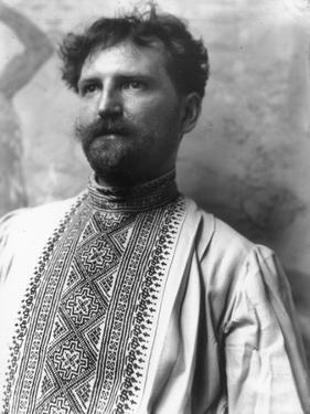 Alphonse Mucha (1860-1939) Wearing a Russian Shirt, c.1896