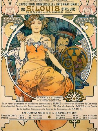 1904 St. Louis World's Fair Poster by Alphonse Mucha