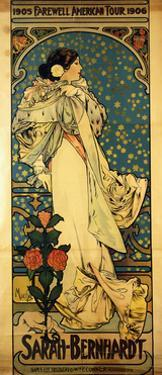 A Poster for Sarah Bernhardt's Farewell American Tour, 1905-1906, C.1905 by Alphonse Mucha