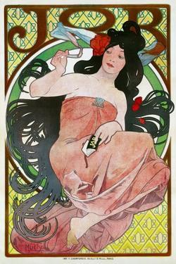 Advertising Poster for the Tissue Paper Job, 1896 by Alphonse Mucha