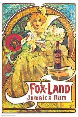Alphonse Mucha- Fox Land Jamaica Rum by Alphonse Mucha