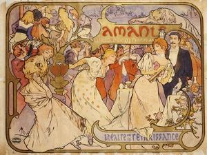 Amants, 1895 by Alphonse Mucha