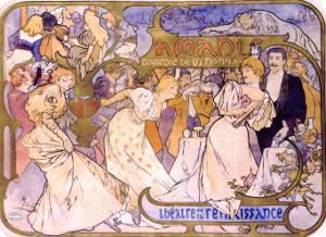 Amants by Alphonse Mucha
