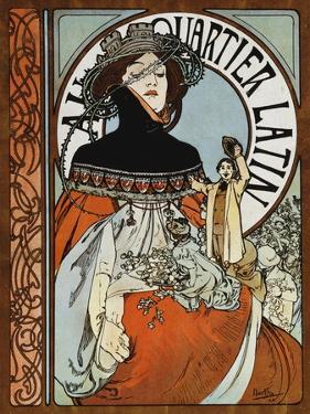 Au Quartier Latin, 1898 by Alphonse Mucha