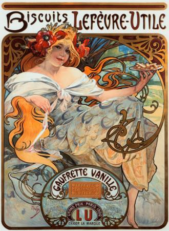 Biscuits Lefevre Utile by Alphonse Mucha