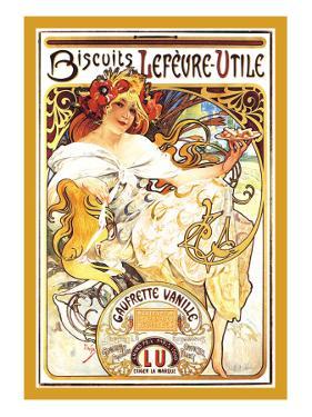 Biscuits Lefevre-Utile by Alphonse Mucha