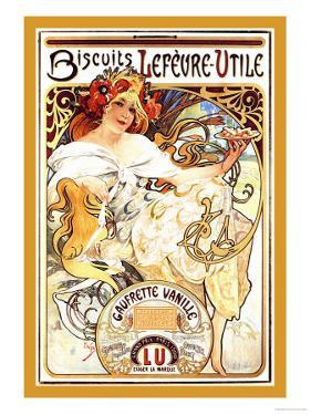 Biscuits Lefevre-Utile by Alphonse Mucha