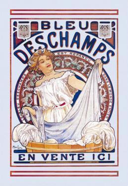 Bleu Deschamps En Vente Ici by Alphonse Mucha
