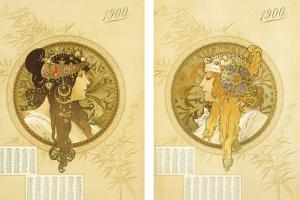 Byzantine Heads; Tetes Byzantines, 1900 by Alphonse Mucha
