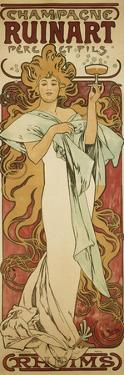 Champagne Ruinart, 1896 by Alphonse Mucha