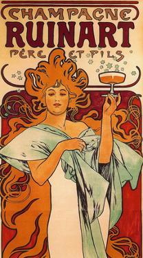 Champagne Ruinart Père et Fils. Rheims (1896) by Alphonse Mucha