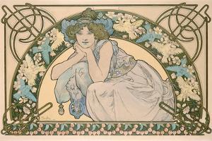 Cherry Blossom, 1898 by Alphonse Mucha