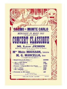 Concert at the Monte Carlo Casino by Alphonse Mucha
