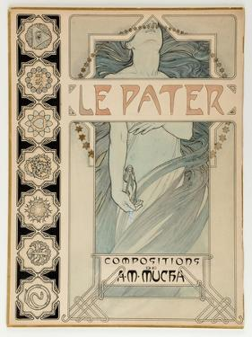 Cover Design for the Illustrated Edition Le Pater by Alphonse Mucha