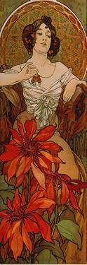 Edelsteine: Rubin, 1900 by Alphonse Mucha