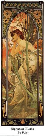 Evening by Alphonse Mucha