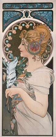 Feather, 1899 by Alphonse Mucha