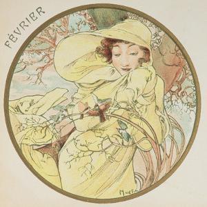 February, 1899 (Detail) by Alphonse Mucha