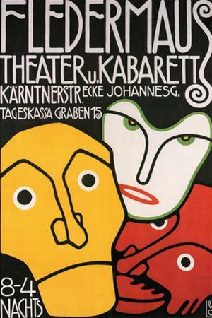 Fledermaus Theatre Production by Alphonse Mucha