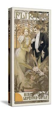 Flirt, 1899 by Alphonse Mucha