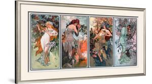 Four Seasons by Alphonse Mucha