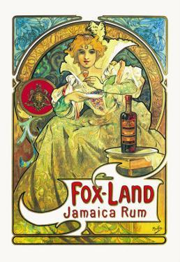 Fox-Land Jamaica Rum by Alphonse Mucha