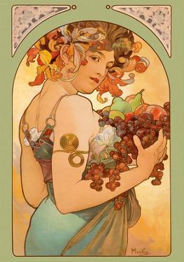 Fruit, Art Nouveau, La Belle Époque by Alphonse Mucha