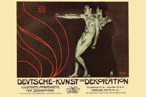 German Art Decoration Magazine by Subscription by Alphonse Mucha