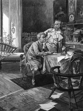 Goethe with Schiller by Alphonse Mucha