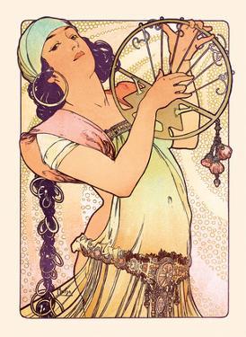 Gypsy, Art Nouveau, La Belle Époque by Alphonse Mucha