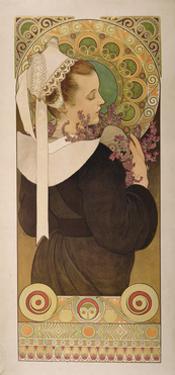 Heather from Coastal Cliffs, 1902 by Alphonse Mucha