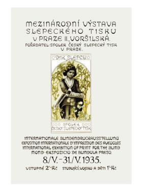 International Exhibition of Print for the Blind by Alphonse Mucha