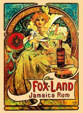 Jamaica Rum, Art Nouveau, La Belle Époque by Alphonse Mucha