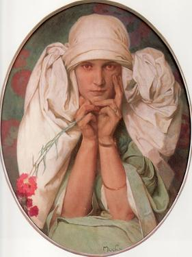 Jaroslava, 1920 by Alphonse Mucha