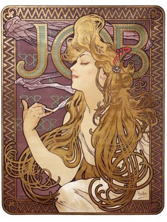 Job Cigarette Rolling Papers Advertisement, 1897 by Alphonse Mucha