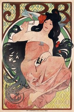 Job - Cigarette Rolling Papers Advertisement by Alphonse Mucha