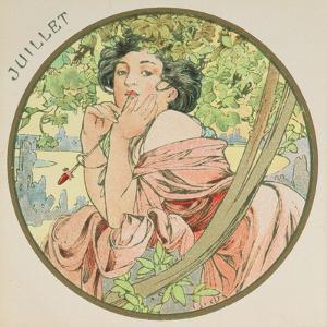 July, 1899 (Detail) by Alphonse Mucha