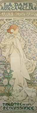La Dame Aux Camelias with Sarah Bernhardt. Poster for the Theatre De La Renaissance, 1896 by Alphonse Mucha