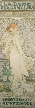 La Dame Aux Camelias with Sarah Bernhardt. Poster for the Theatre De La Renaissance, 1896 by Alphonse Mucha