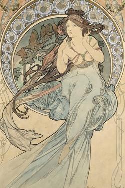 La Musique, 1898 by Alphonse Mucha