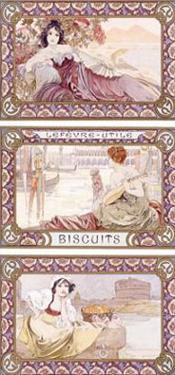 Lefevre-Utile Biscuits by Alphonse Mucha